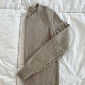 Banana Republic sweater with gold trim neck line